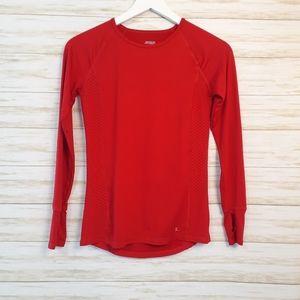 Danskin Dri Fit Performance Long Sleeve Red Shirt